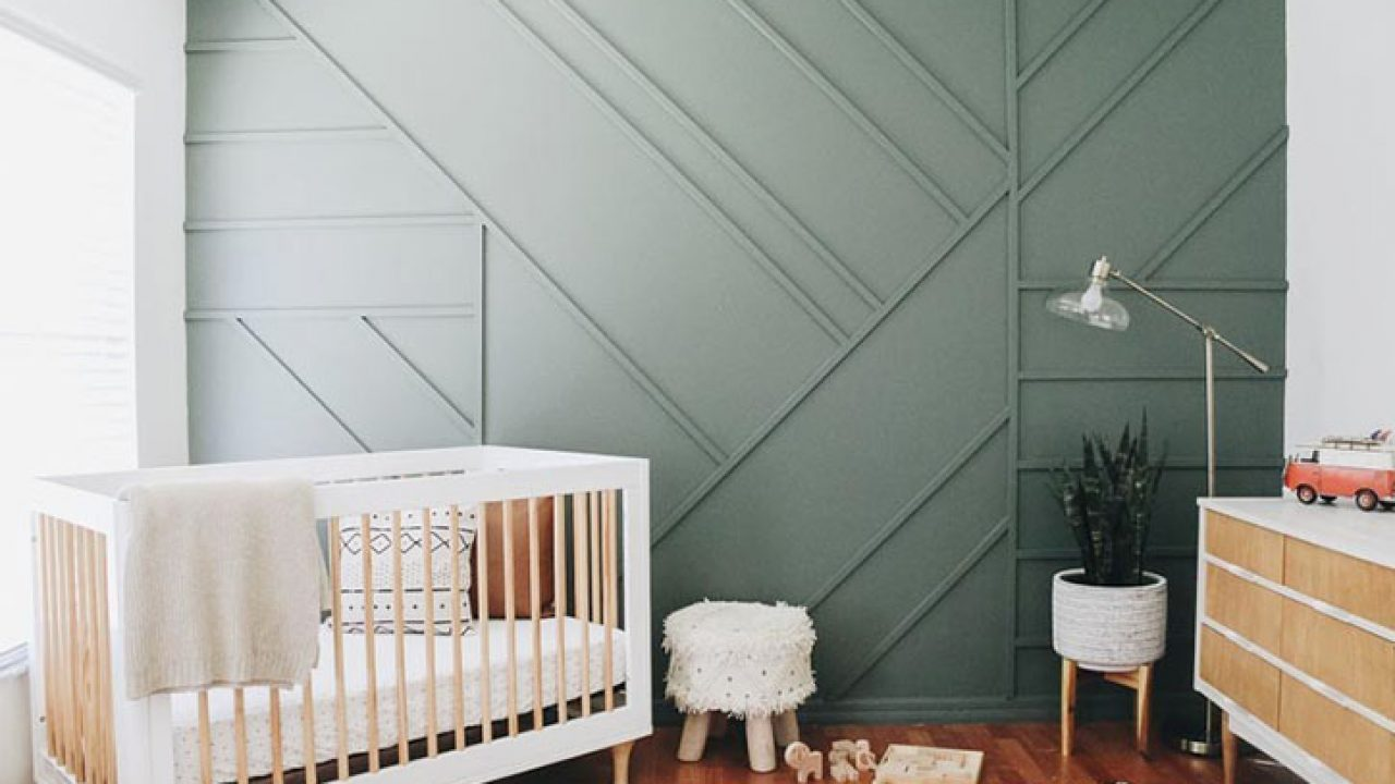 17 Showstopper Baby Nursery Accent Wall Ideas