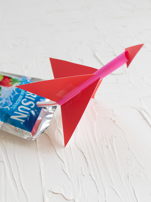 Turn a Drink Pouch into a Rocket with a Few Basic Supplies
