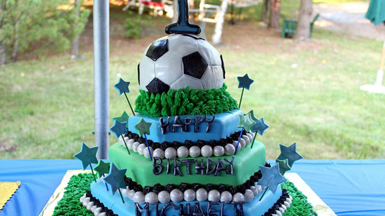 Miraculous 11 Sports Themed Birthday Cake Ideas For Your Kids Birthday Party Funny Birthday Cards Online Elaedamsfinfo
