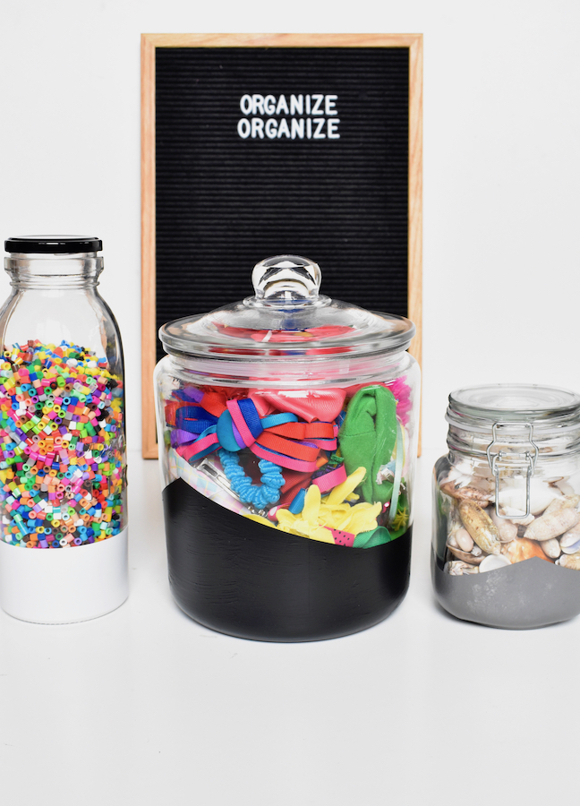 Time to Get Organized With These Pretty DIY Painted Storage Jars