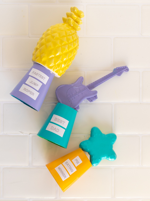 Make Goofy Dollar Store Trophies for Family Events