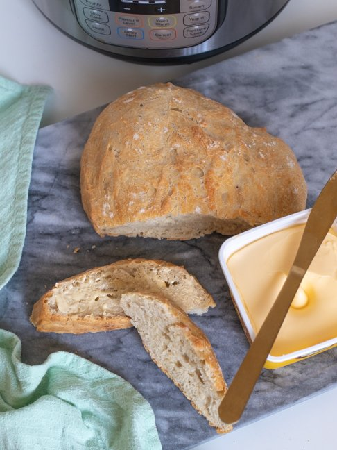 Make this Instant Pot Bread Recipe in Half the Time