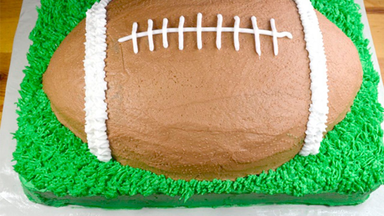 Excellent How To Make A Football Cake Recipe Personalised Birthday Cards Paralily Jamesorg