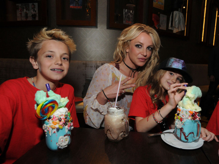 Britney Spears with her two sons