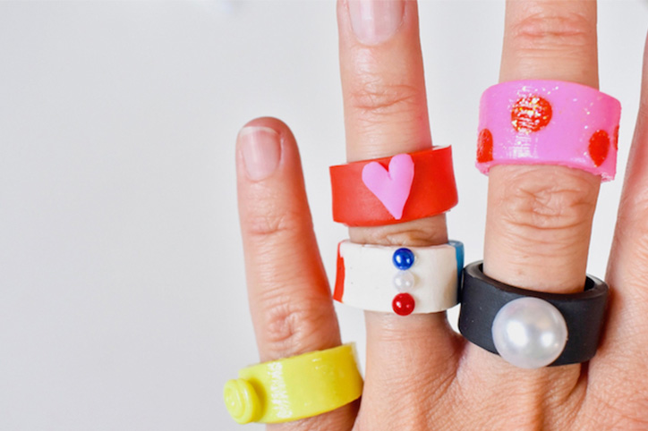 Crafting With Kids: DIY Chunky Clay Rings
