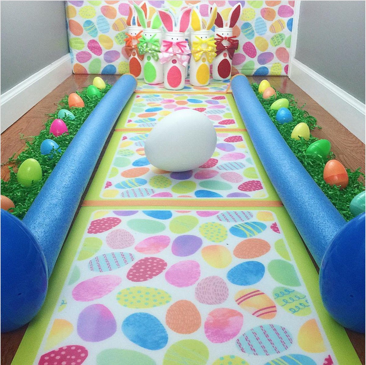 DIY Easter Bowling Alley