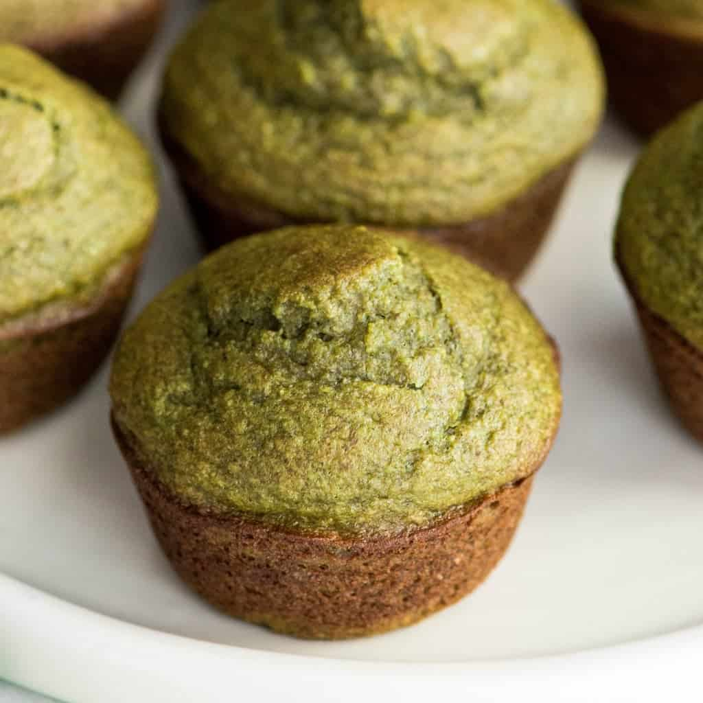 Blender Spinach Banana Muffins