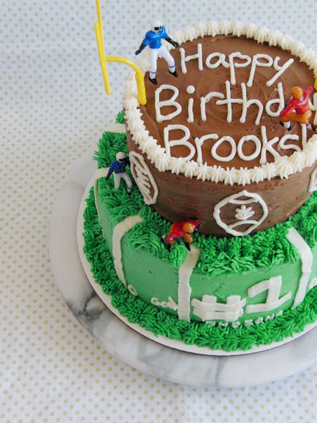 Touch Down! Manly Football Cake