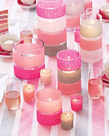 Glittery Candles