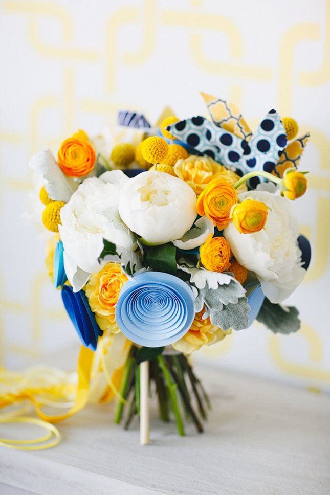 Paper and Flowers Bouquet