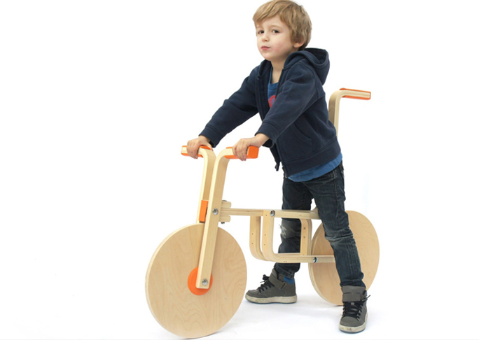 Kid's Bike from a Stool