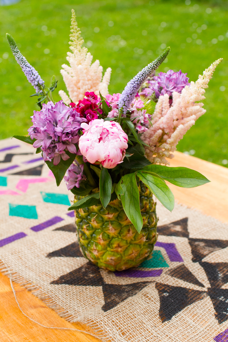 Put Flowers in a Pineapple