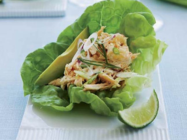 Spicy Asian Chicken Salad Lettuce Cups