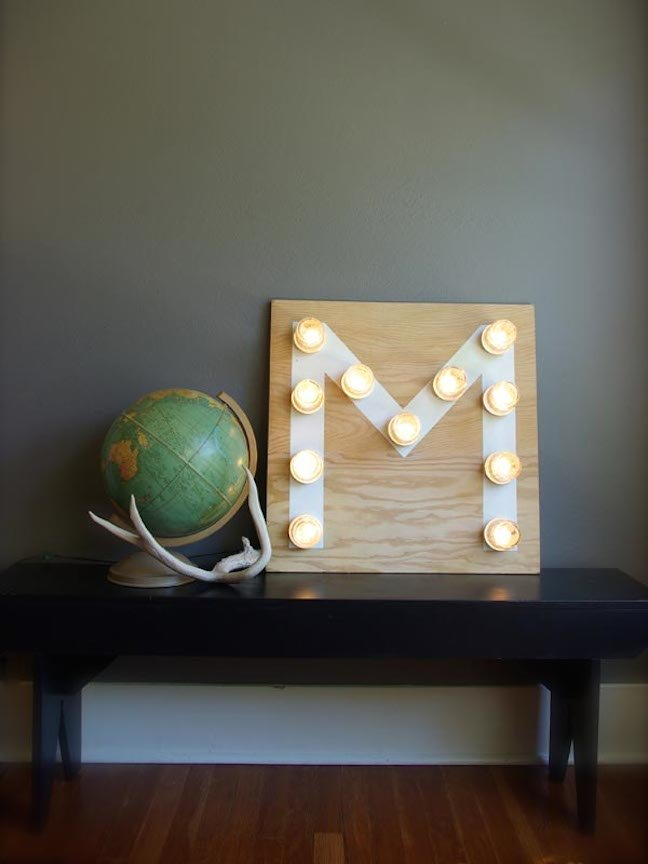 Home Decor: Make a Monogram Light