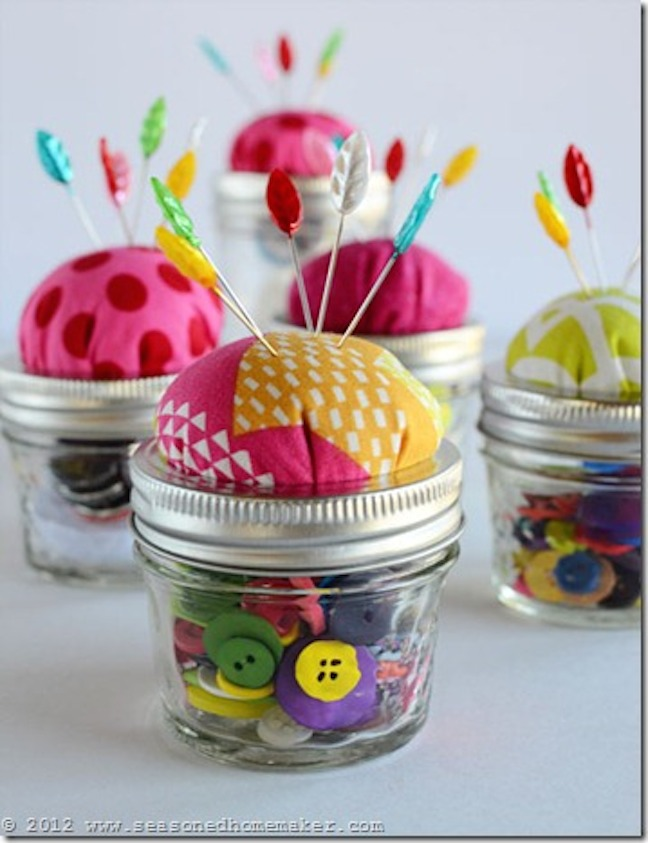 Home Storage: Make a Jar Pincushion