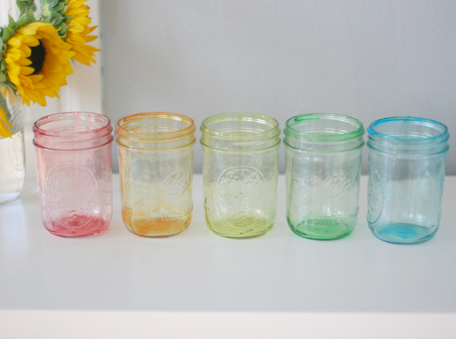 Make Some Colorful Tinted Jars