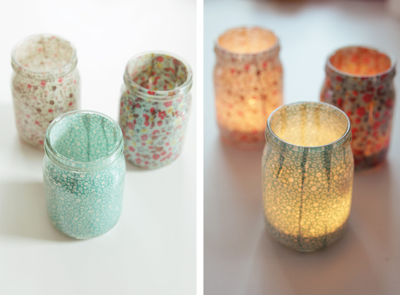 Home Decor: Fabric Covered Jars
