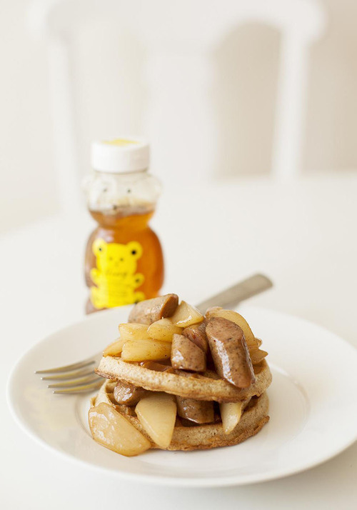 Honey Pear and Sausage Stack