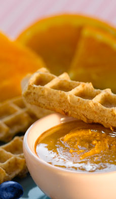Waffle Fingers and Dip
