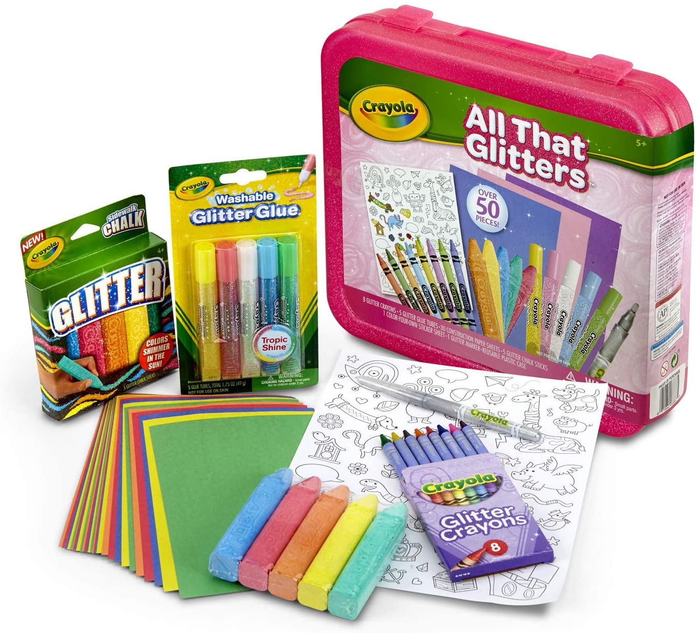 Crayola All That Glitters Art Case Coloring Set