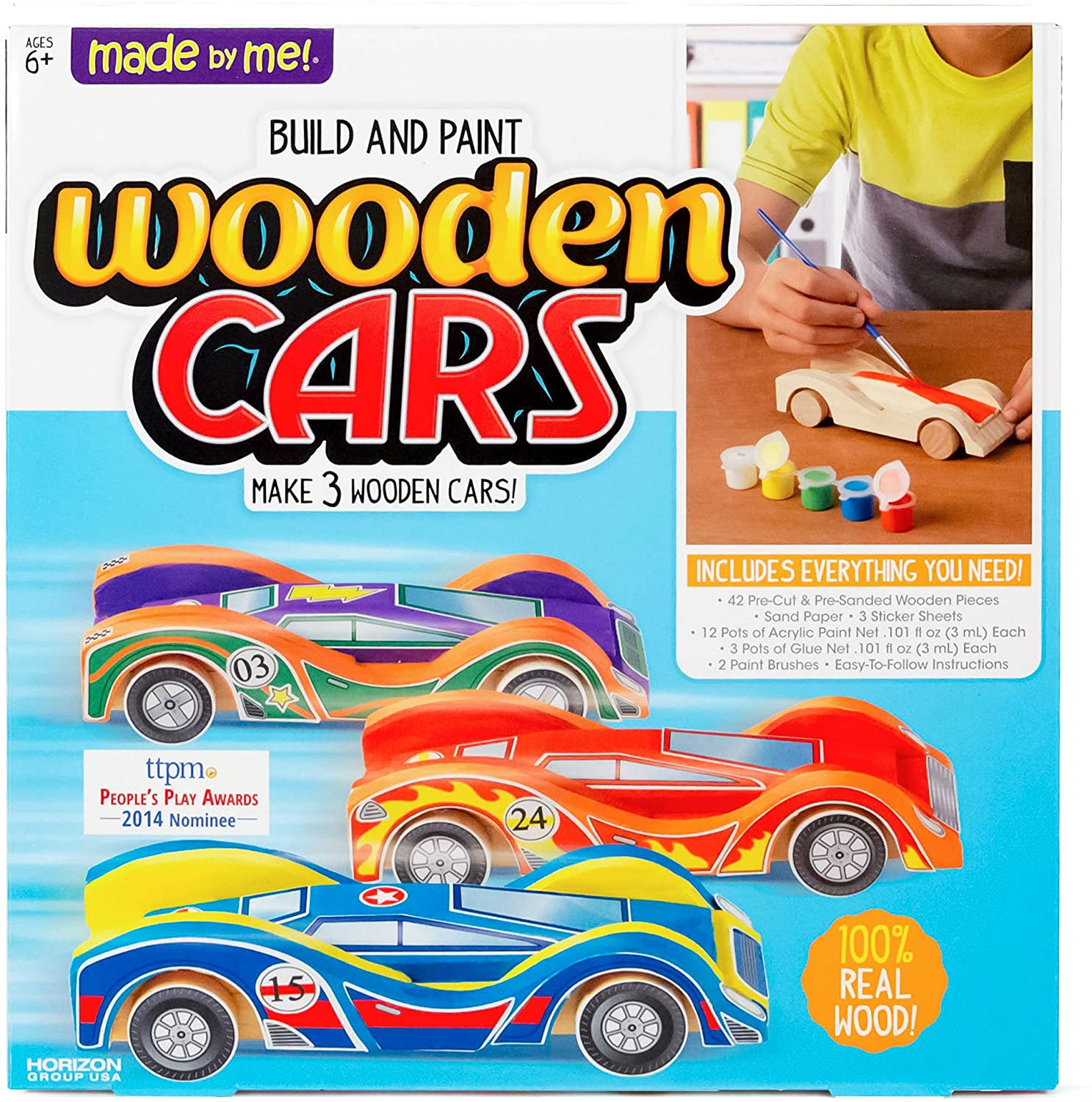 Build and Paint Wooden Cars Kit