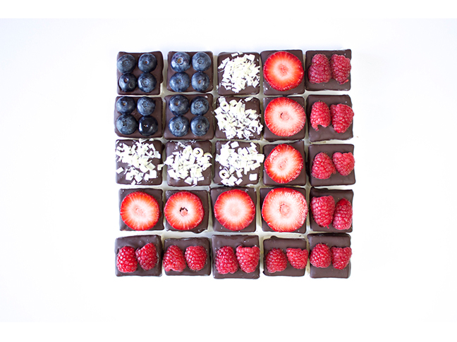 Fruity Flag of Chocolate Marshmallows