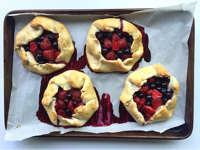 Strawberry Blueberry Rustic Tarts