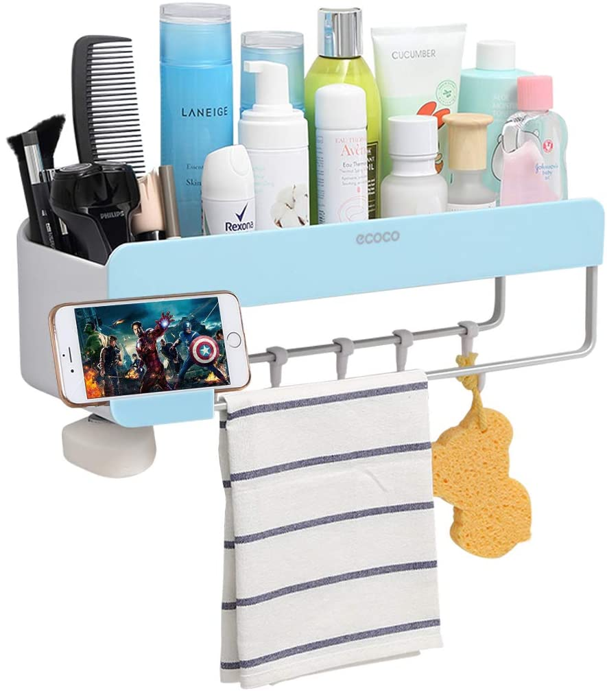 Adhesive Bathroom Shelf Storage Organizer