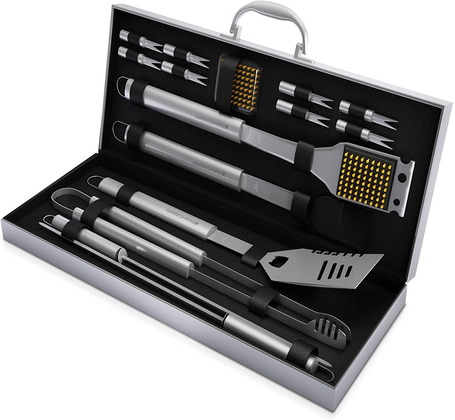 16 Piece Stainless Steel BBQ Grill Tool Set