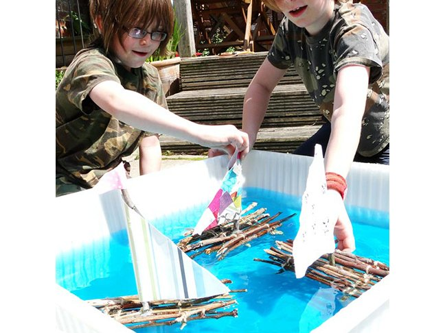 Stick Raft Building Project