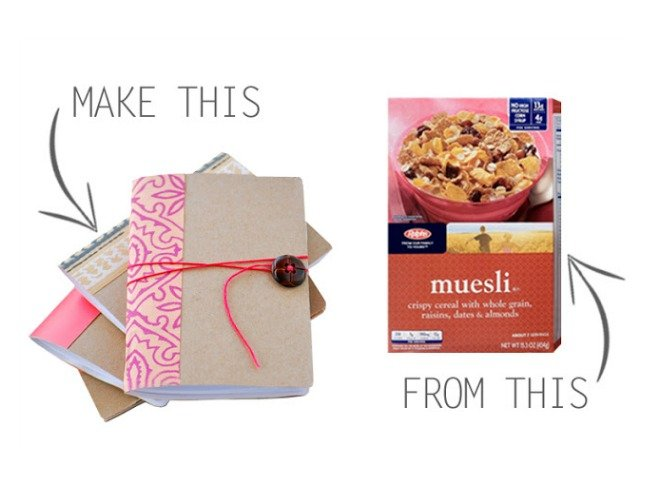 Cereal Box Mini Notebooks