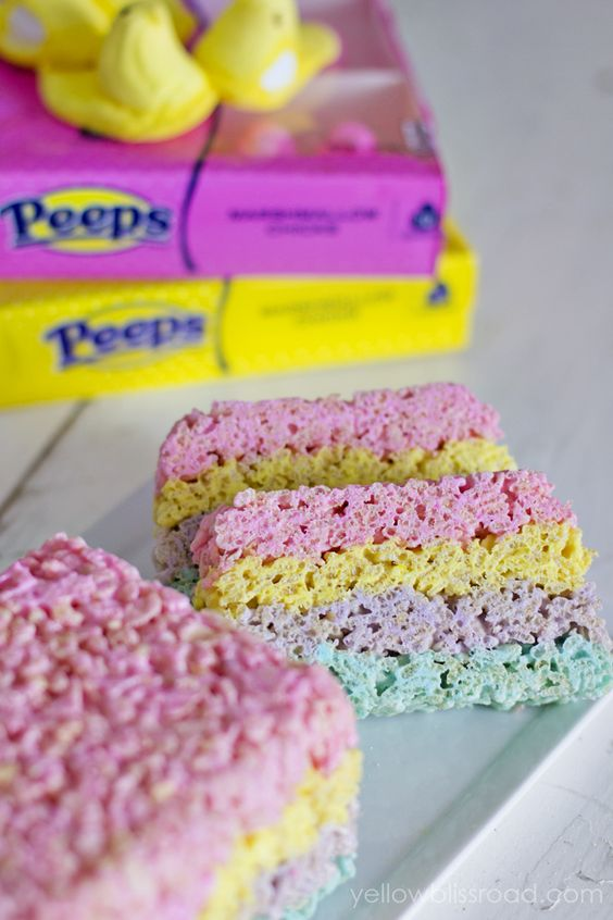 Layered Rice Krispies Treats