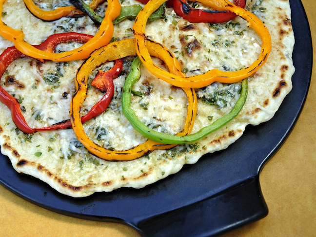 Grilled Pepper Ring Pizza