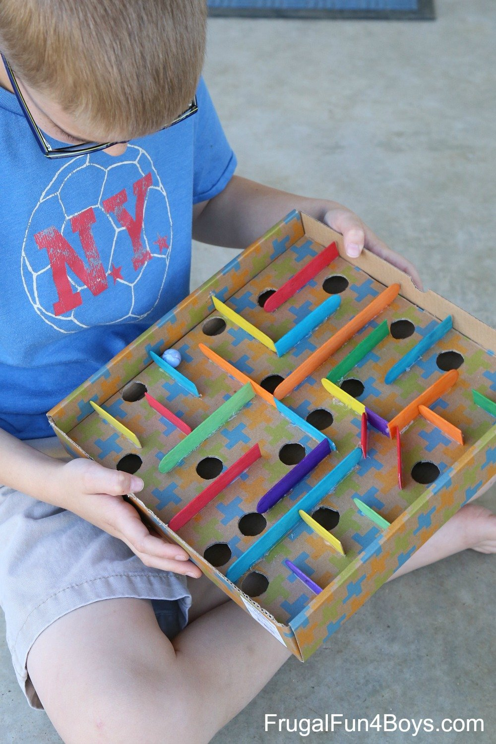 Cardboard Labyrinth Marble Game