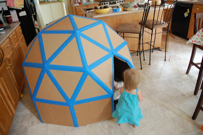Cardboard Triangle Playhouse