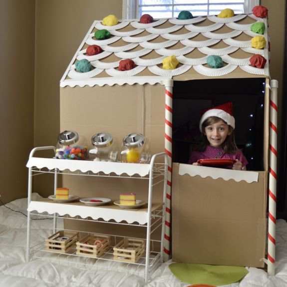 Cardboard Gingerbread House