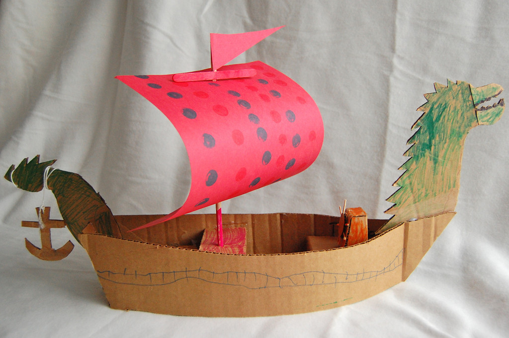 Cardboard Chronicles of Narnia Dawntreader Ship