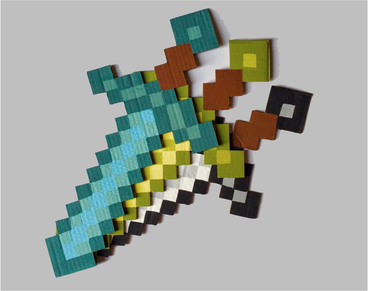 Cardboard Minecraft Swords