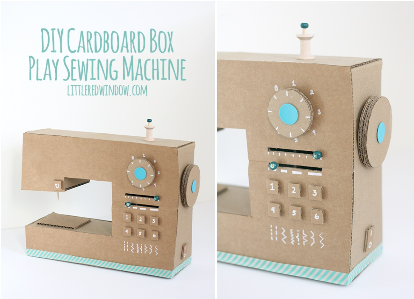 Cardboard Sewing Machine