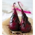 Poached Pears in Red Wine and Chocolate Glaze