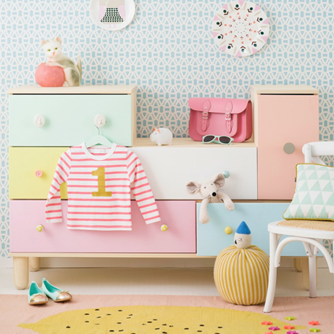Colourful Chest of Drawers Upgrade by Charlotte Lovey