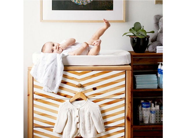 Patterned Changing Table by Dana McLure