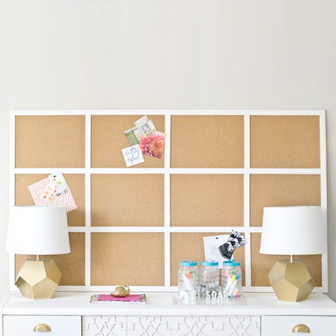 Panelled Cork Board from Infarrantly Creative