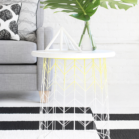 Modern and Stylish Ombre Wire Side Table from I Spy DIY