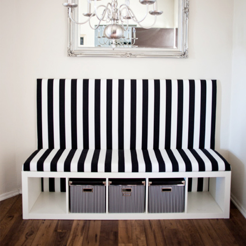 Patterned Banquette from Melodrama