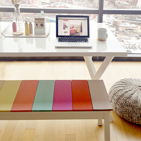 Colourful Plank Bench from Likes of Us