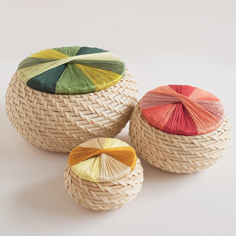 Colourful Wrapped Small Storage Baskets from Tell Love and Party