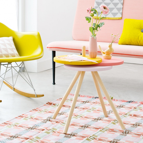 Colourful Expanding Side Table from Vtwonen