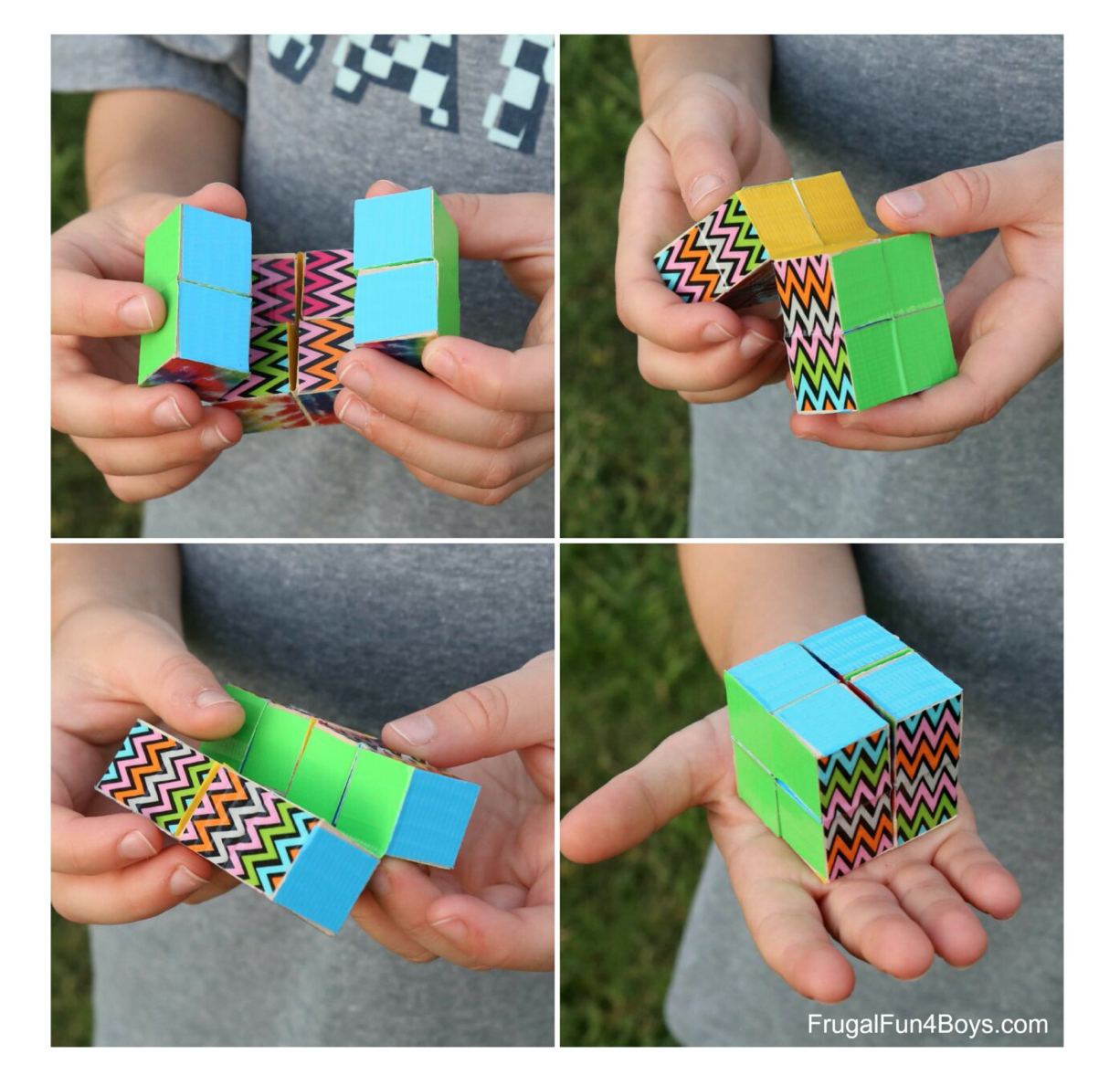 DIY Duct Tape Endless Cube