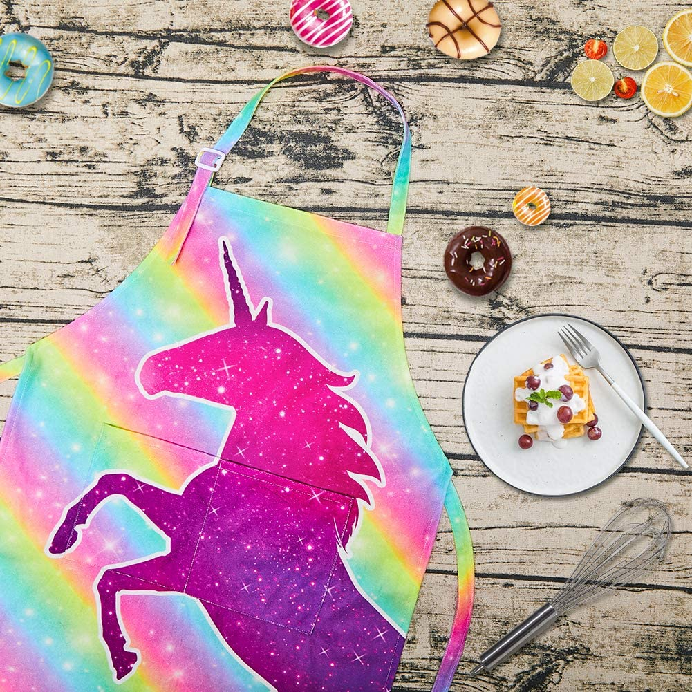 unicorn-apronUnicorn Apron and Chef Hat